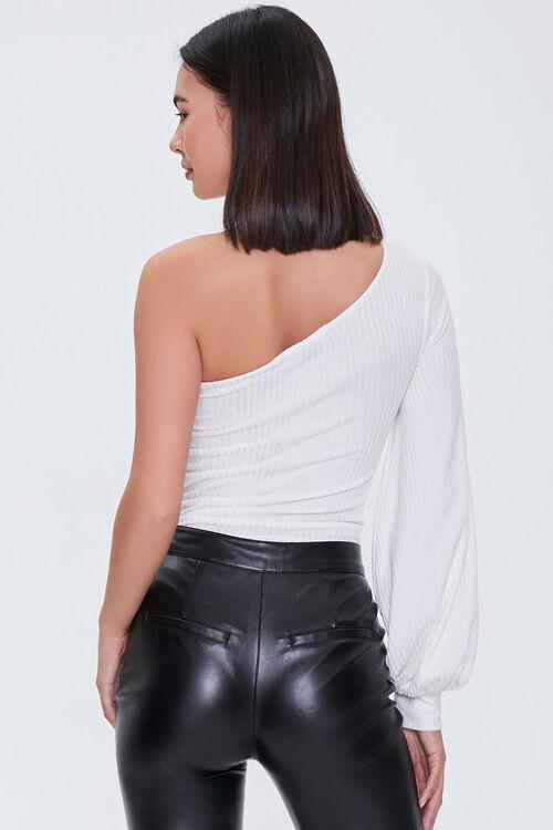 Ribbed One-Shoulder Bodysuit, image 3