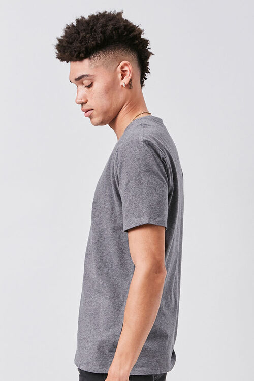Basic Heathered V-Neck Tee, image 2