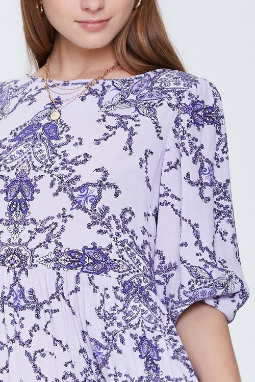 Ornate Floral Print Swing Dress, image 4