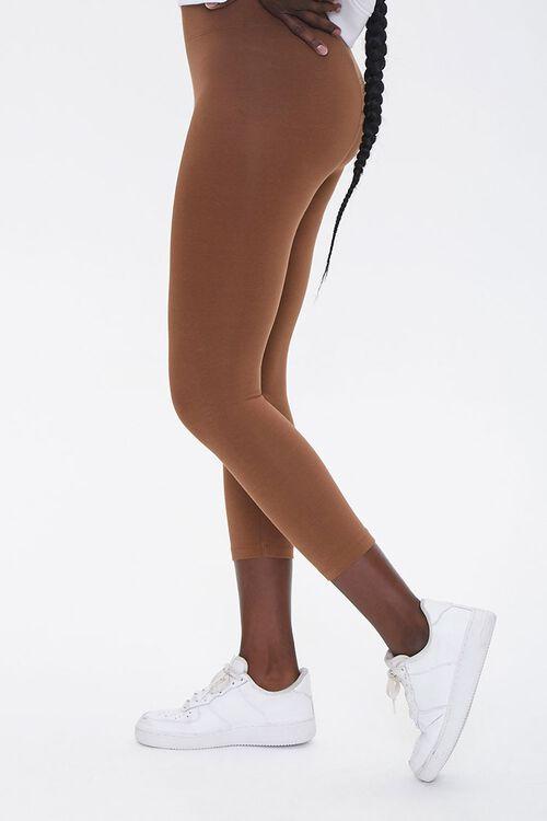Basic High-Rise Capri Leggings, image 3