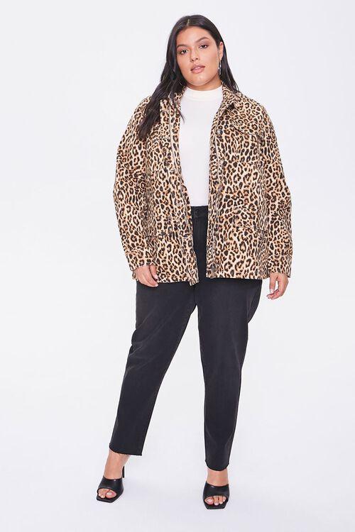 Plus Size Leopard Print Jacket, image 4