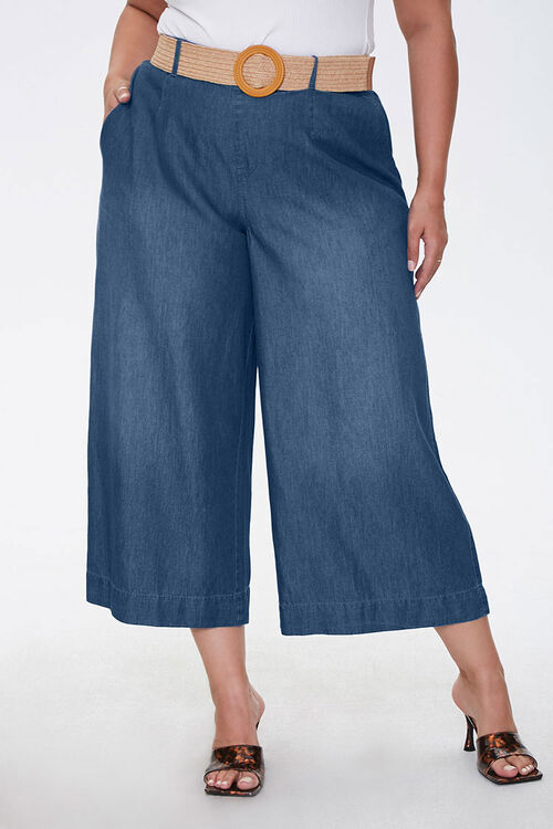 Plus Size Cropped Wide-Leg Jeans, image 2