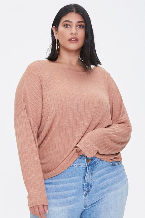 Plus Size Ribbed Twist-Back Top, image 5