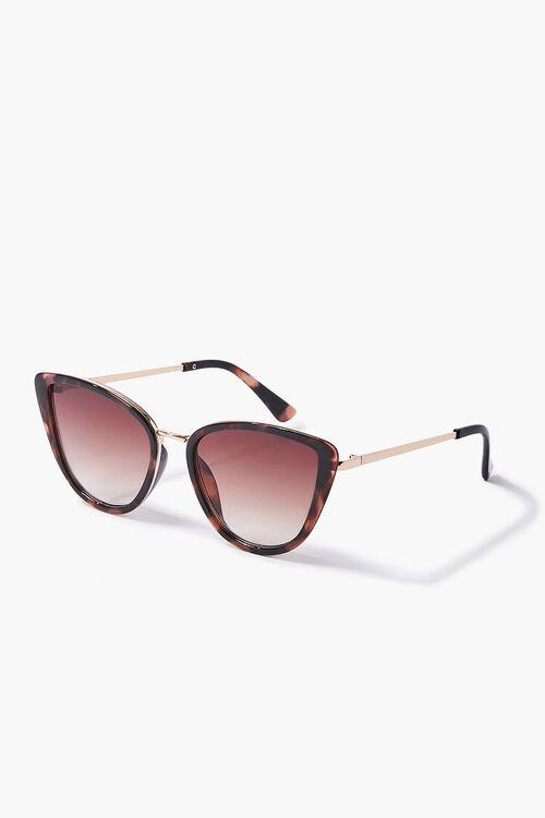 GOLD/BROWN Cat-Eye Frame Sunglasses, image 2