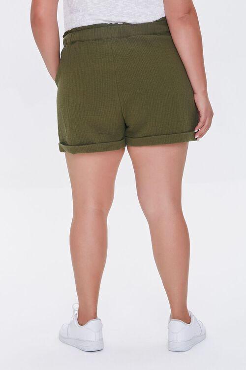 Plus Size Textured Drawstring Shorts, image 4