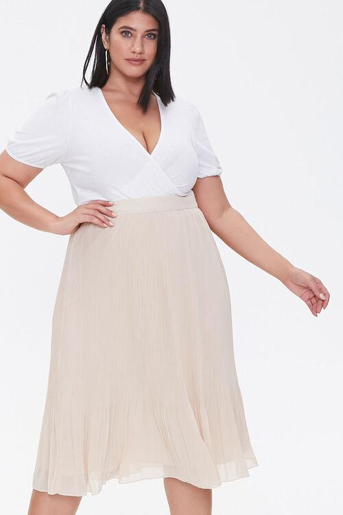 Plus Size Flowy Midi Skirt, image 5