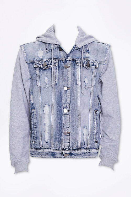 Distressed Denim Combo Jacket, image 1