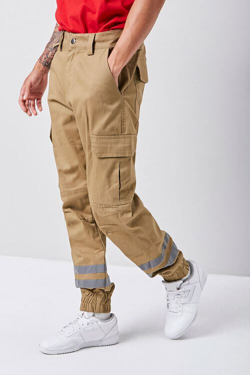Reflective-Trim Cargo Joggers, image 1