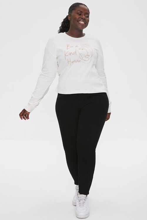 Plus Size Be Kind Graphic Pullover, image 4