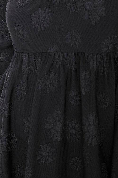 Floral Jacquard Mini Dress, image 5