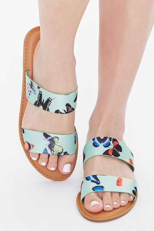 Butterfly Print Dual-Strap Sandals, image 4