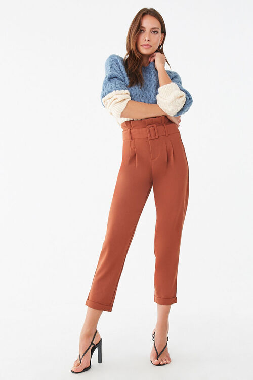 D-Ring Belt Cuffed Trousers, image 4