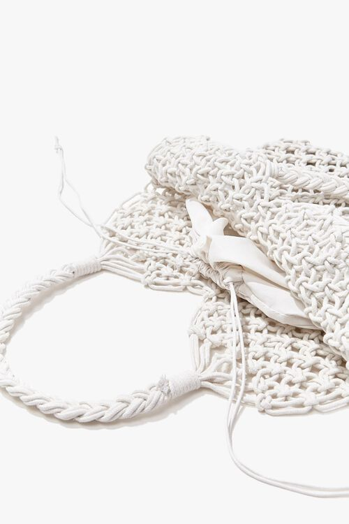 Braided Open-Knit Tote Bag, image 2