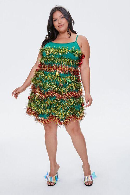 Plus Size Tinsel Garland Mini Dress, image 4
