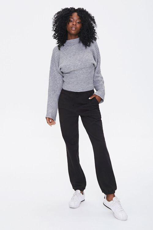 Ribbed Mock Neck Sweater, image 4