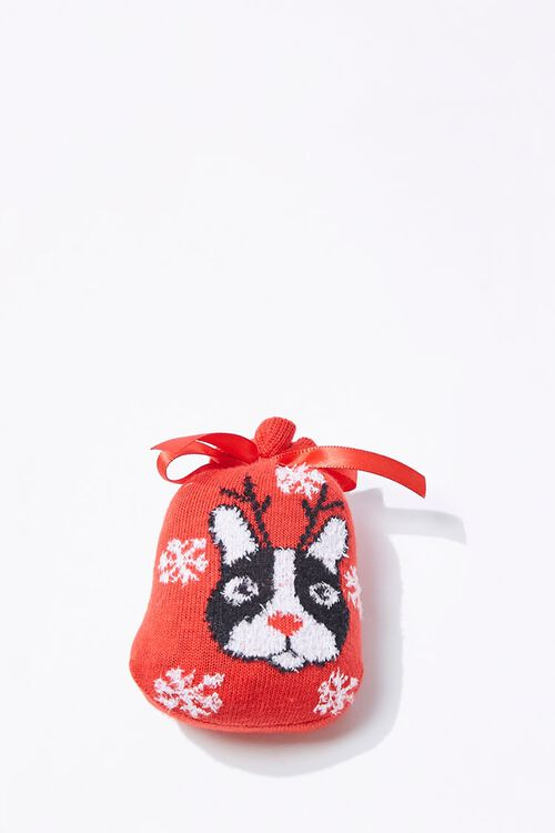 Girls Dog Print Crew Socks (Kids), image 3