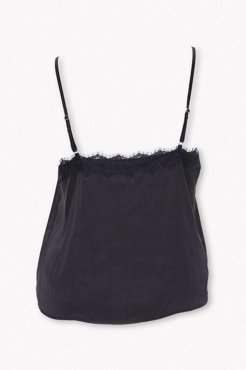 Plus Size Lace-Trim Satin Cami, image 2