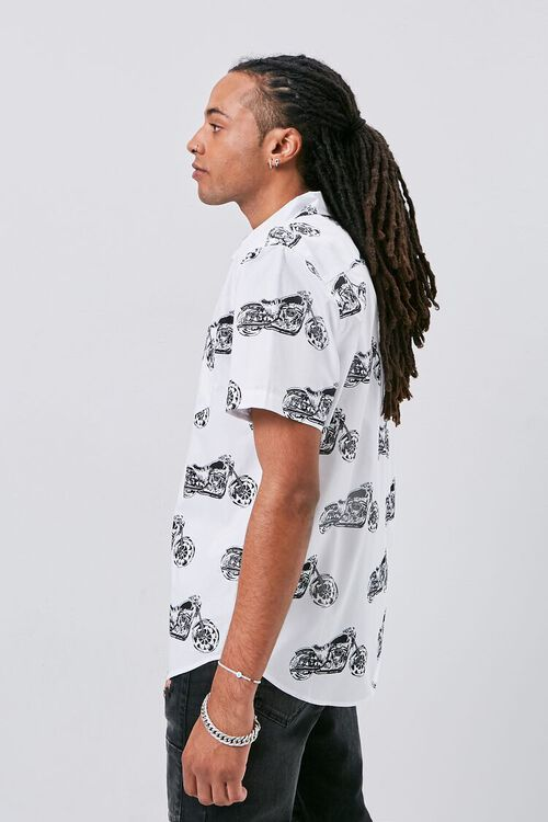 Motorcycle Print Fitted Shirt, image 2