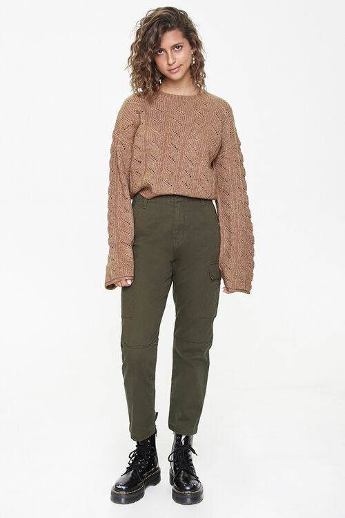 Cable Knit Drop-Sleeve Sweater, image 4