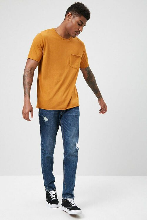 Rolled-Trim Knit Tee, image 4