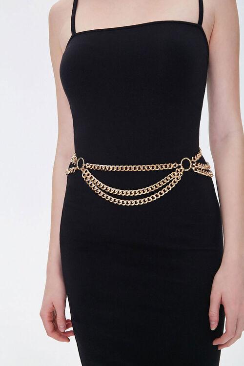 Curb Chain Layered Waist Belt, image 2