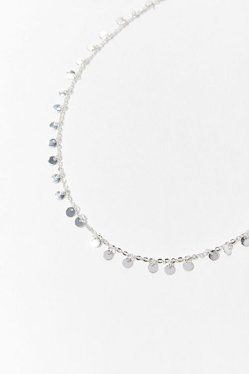 SILVER Disc Charm Necklace, image 2
