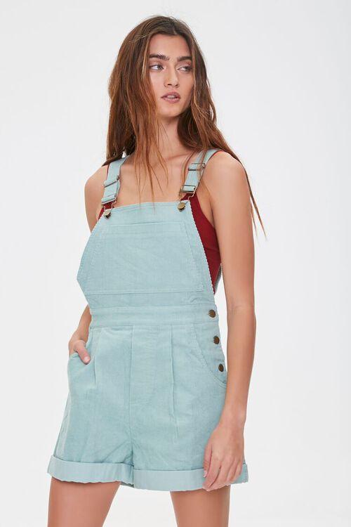 Corduroy Overall Shorts, image 1