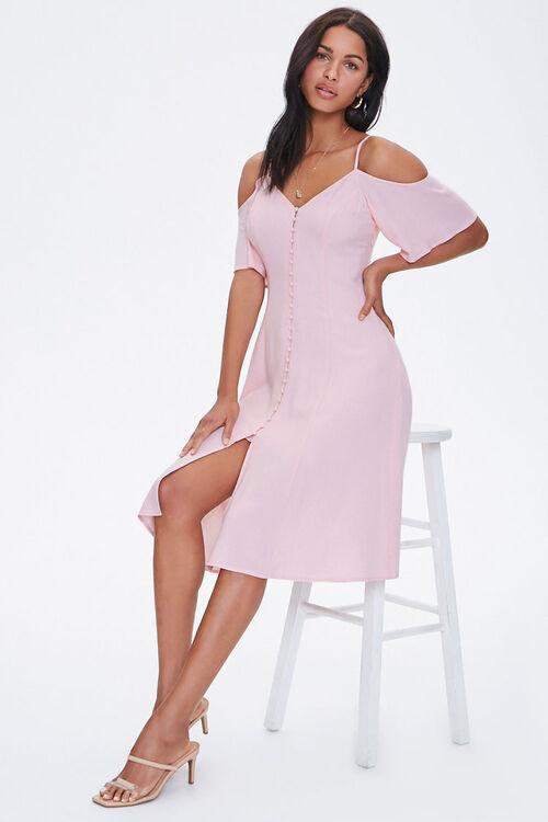 Buttoned Open-Shoulder Dress, image 4