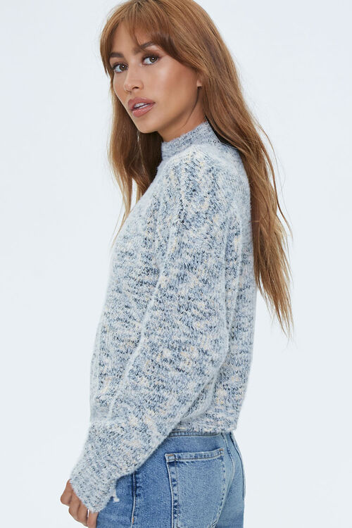 Marled Mock Neck Sweater, image 2