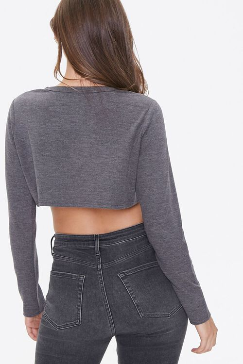 Button-Front Crop Top, image 3