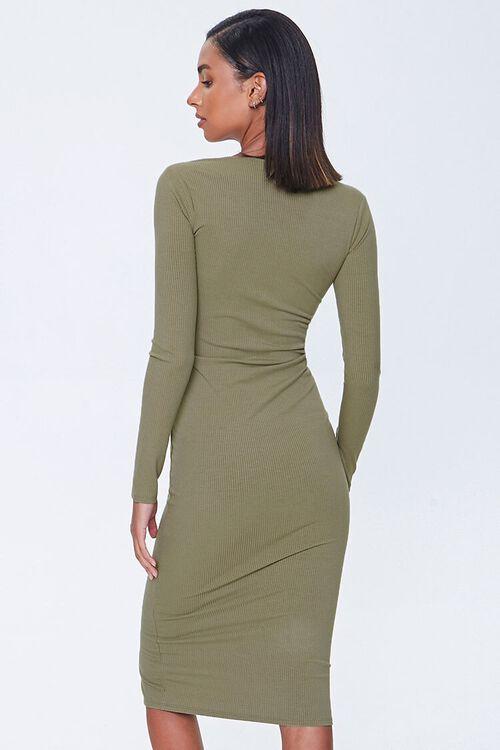 Button-Front Midi Dress, image 3