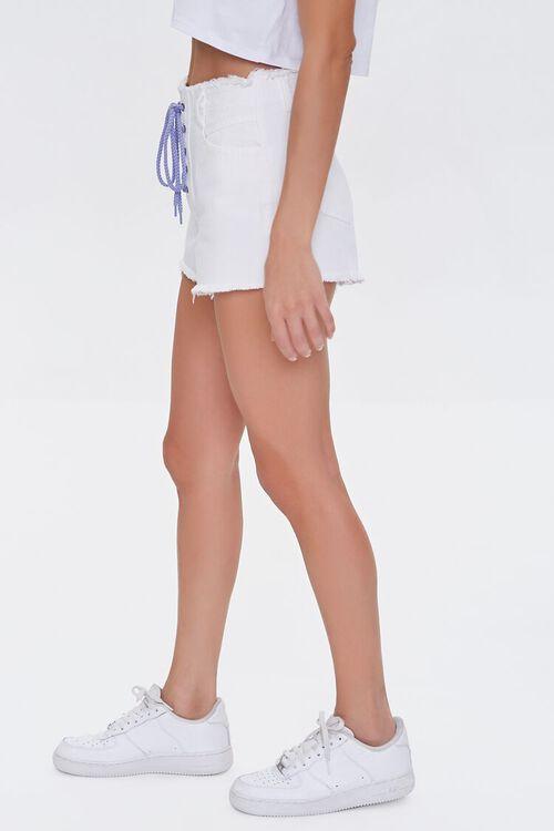 Lace-Up Denim Shorts, image 3