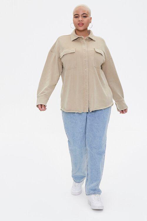 Plus Size Chest-Pocket Jacket, image 4