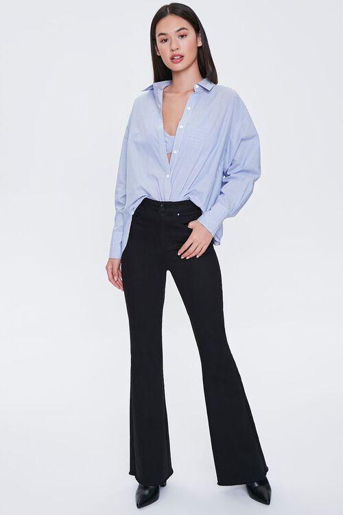 Pinstriped Bralette & Shirt Set, image 4