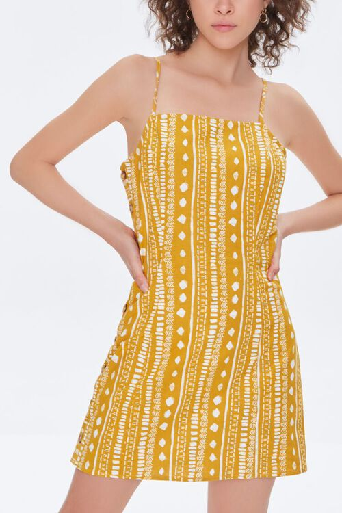 Geo Print Mini Cami Dress, image 2