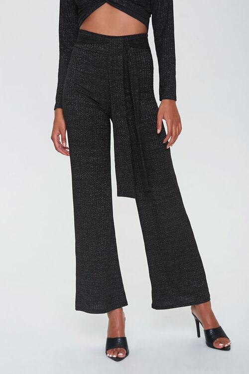 Metallic Flare Pants, image 1