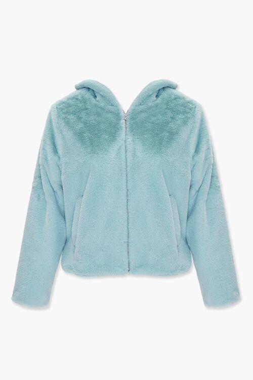 Plus Size Plush Hooded Jacket, image 1