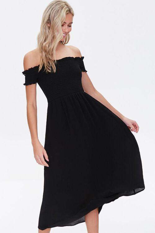 Smocked Off-the-Shoulder Dress, image 5