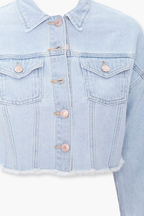 Girls Frayed Denim Jacket (Kids), image 3