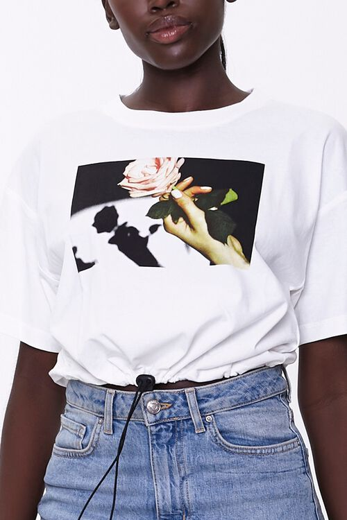 Rose Graphic Toggle Tee, image 5