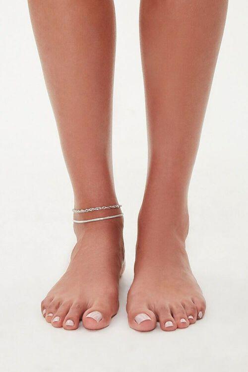 Snake & Twisted Chain Anklet Set, image 2