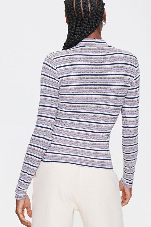 Striped Mock Neck Top, image 3