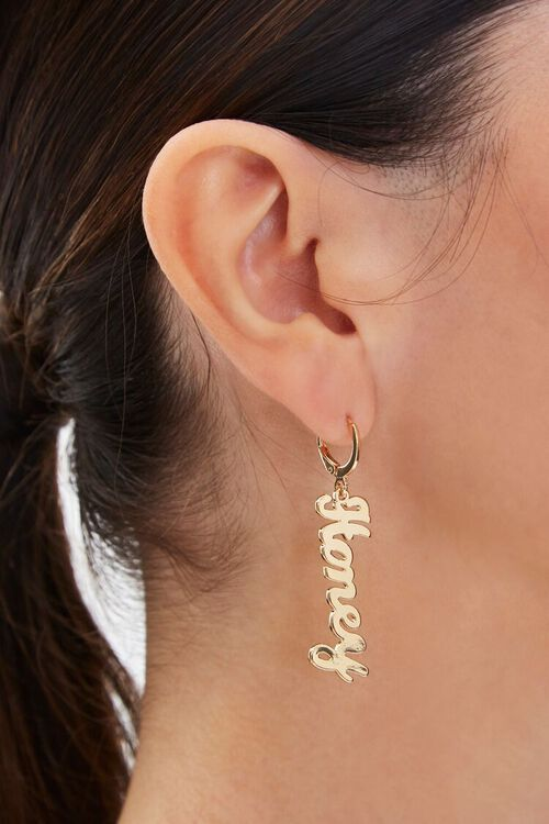 Honey Pendant Drop Earrings, image 1