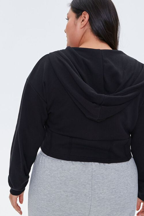 Plus Size French Terry Zip-Up Hoodie, image 3
