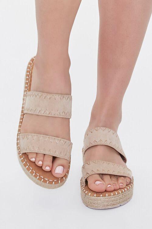 Threaded Espadrille Flatform Sandals, image 4