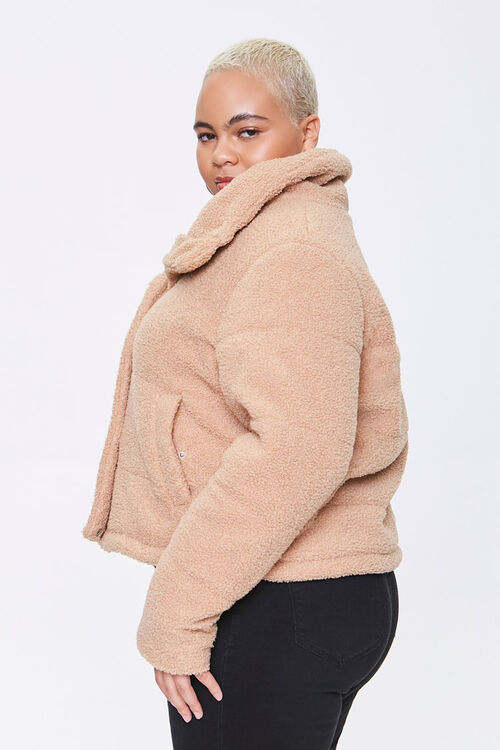 Plus Size Faux Shearling Coat, image 2