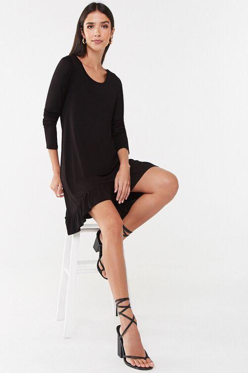 Ruffle-Hem High-Low Mini Dress, image 4