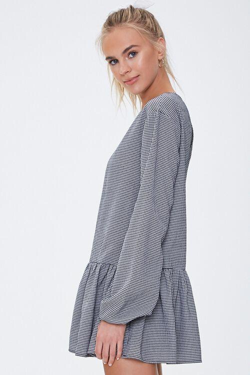 Gingham Peasant Mini Dress, image 2