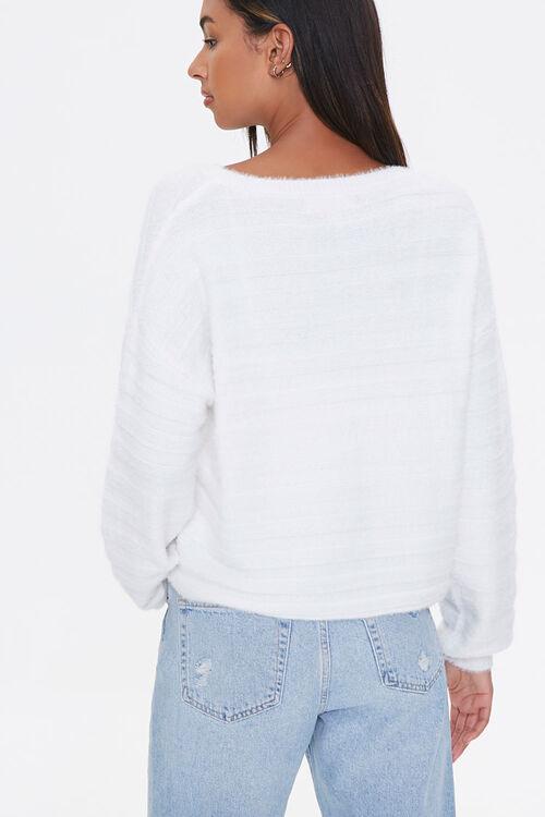 Fuzzy Knit Drop-Shoulder Sweater, image 3