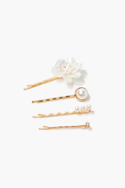 GOLD Floral Bobby Pin Set, image 1